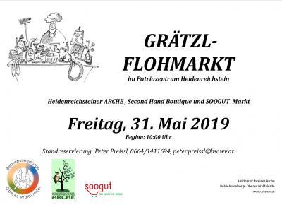 Plakat Grätzelflohmarkt