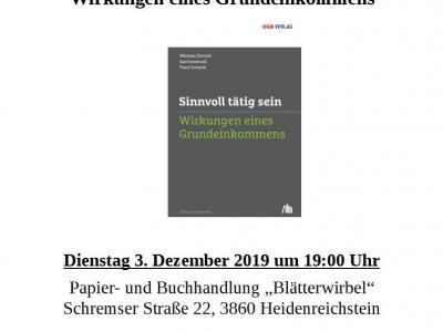 Plakat Buchpräsentation