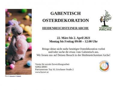 Plakat Ostergabentisch